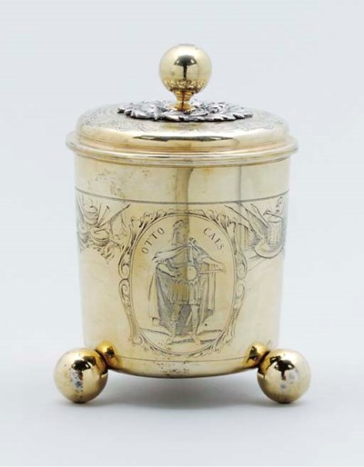 A German parcel-gilt beaker an