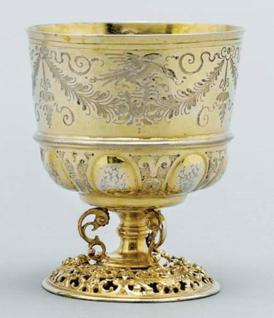 A German silver-gilt beaker