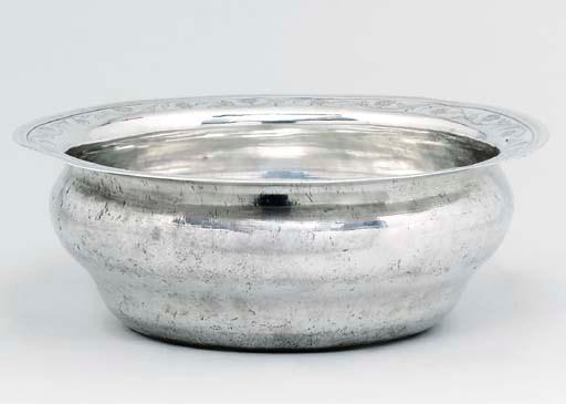 A large Portuguese silver basi