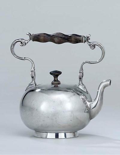 A Swiss silver tea-kettle