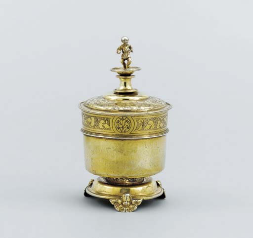 A German silver-gilt beaker an