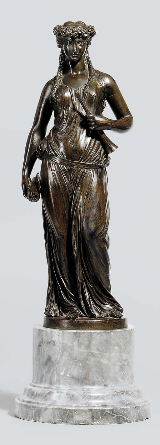 A BRONZE FIGURE OF THE MUSE CL