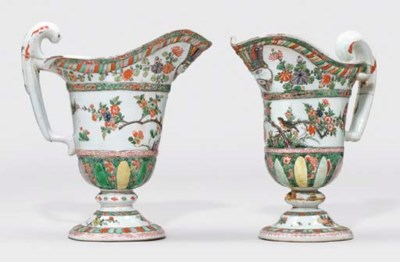 A PAIR OF LARGE FAMILLE VERTE