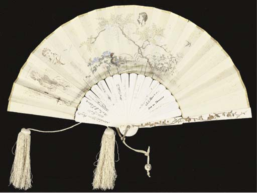 A Japanese folding autograph f