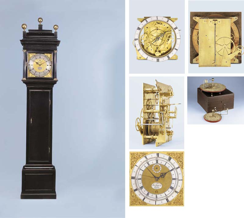 A rare and historically important Queen Anne sidereal and mean time ebonised longcase regulator of month duration