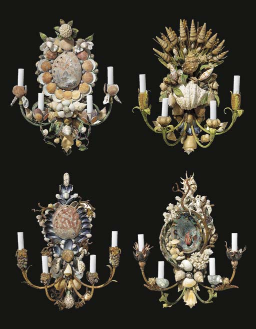 A SET OF FOUR FRENCH TOLE-PEIN