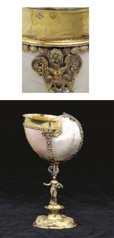 A German silver-gilt mounted n