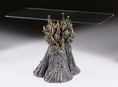A FRENCH PATINATED-BRONZE AND