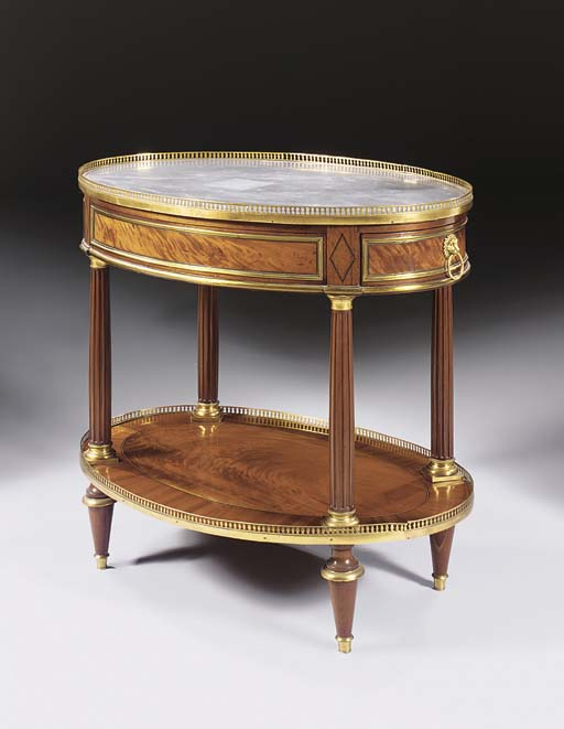 A LOUIS XVI ORMOLU-MOUNTED MAH