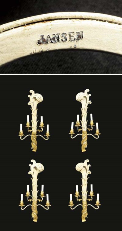 A SET OF FOUR FRENCH TOLE PEIN