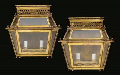 A PAIR OF FRENCH LACQUERED-BRA