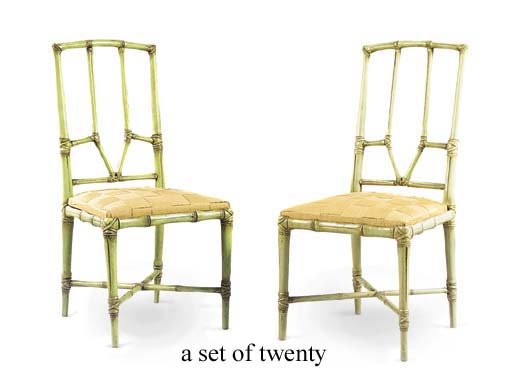 A SET OF TWENTY FRENCH GREEN-P