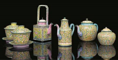 A Chinese Canton enamel part t