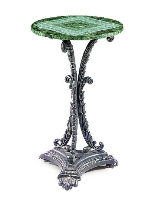 A VICTORIAN GREEN-PAINTED CAST