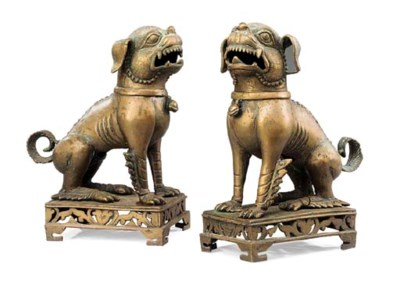 A pair of Thai bronze models o