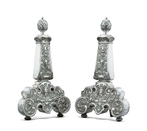 A pair of Continental silver a