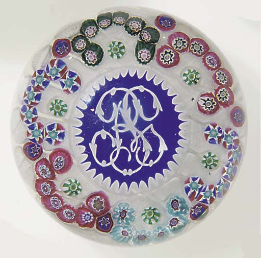 A Clichy monogrammed patterned