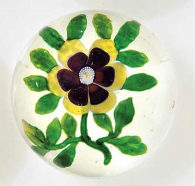 A Baccarat flower weight