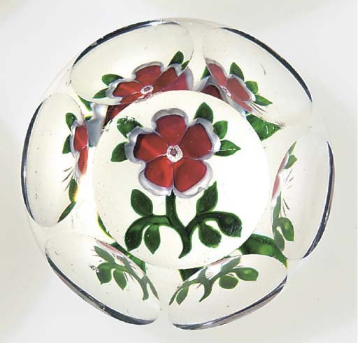 A Baccarat faceted dogrose wei