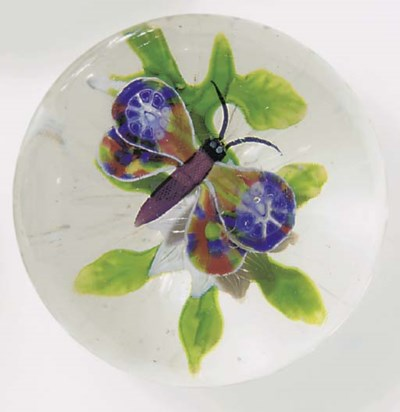 A Baccarat butterfly and doubl