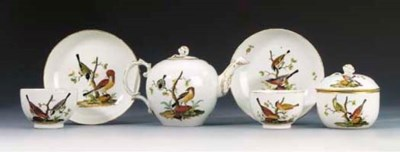 A Fürstenberg part tea-service