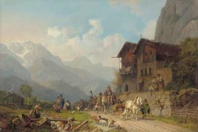 Heinrich Bürkel (German, 1802-