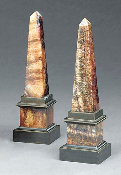 A PAIR OF BRONZE-MOUNTED BLUEJ