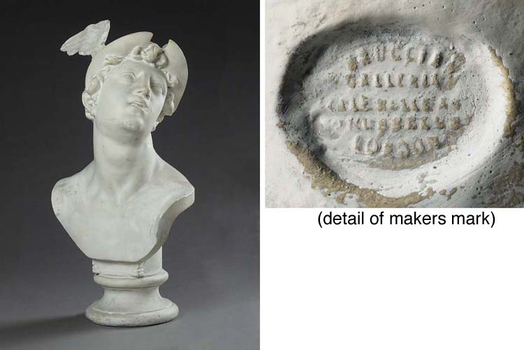 A PLASTER BUST OF MERCURY