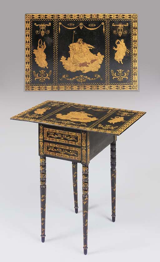 AN ETRUSCAN-DECORATED PEMBROKE