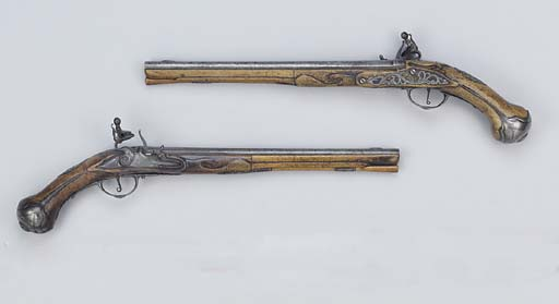 A PAIR OF 40-BORE ITALIAN FLIN