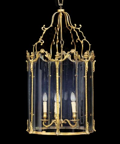 A FRENCH GILT-BRASS LANTERN