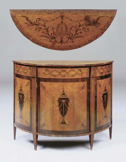 A LATE VICTORIAN SATINWOOD, RO