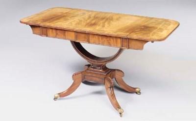 A GEORGE IV MAHOGANY SOFA TABL