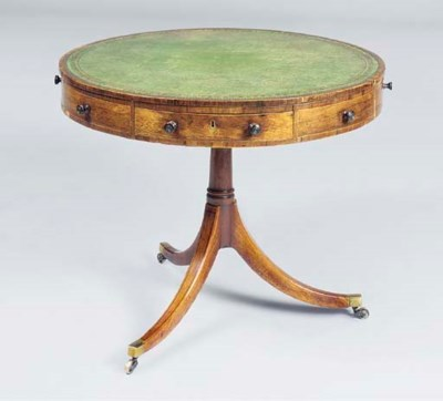 A GEORGE III ROSEWOOD AND EBON