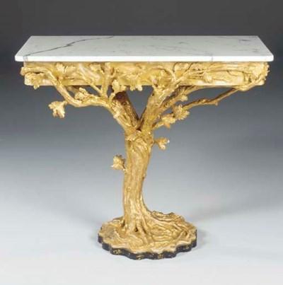 AN IRISH GILTWOOD SIDE TABLE