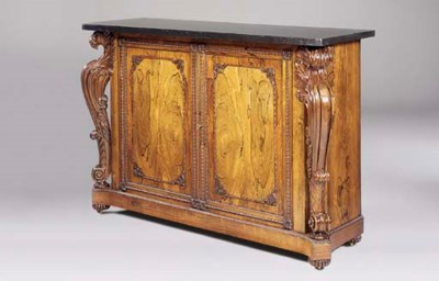 A GEORGE IV ROSEWOOD COLLECTOR