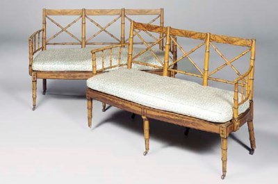 A PAIR OF GEORGE IV SIMULATED-