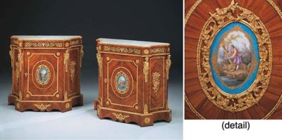 A pair of French ormolu- and S