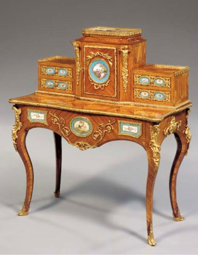 An ormolu-mounted kingwood and