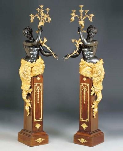 A pair of ormolu-mounted mahog