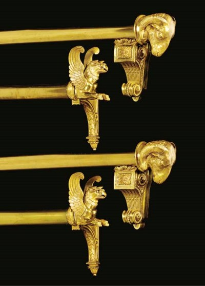 A set of twelve brass and bron