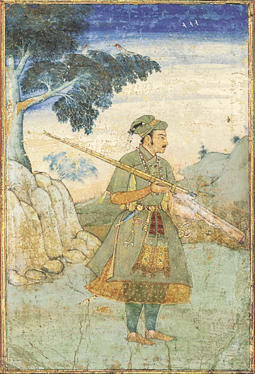 PRINCE KHURRAM WITH A RIFLE