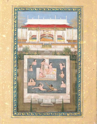 HAREM LADIES IN A PALACE POOL
