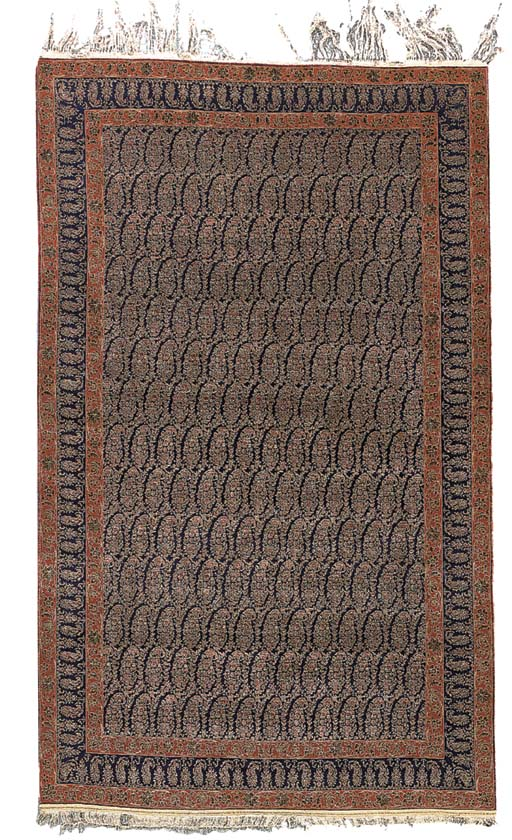 A PART SILK QUM RUG