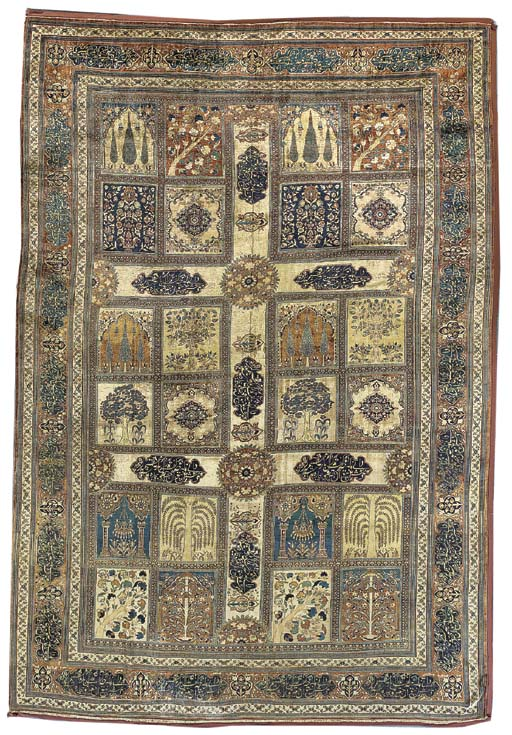 A SILK TABRIZ CARPET
