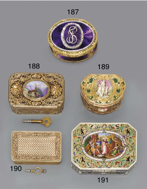 A SWISS ENAMELLED AND JEWELLED