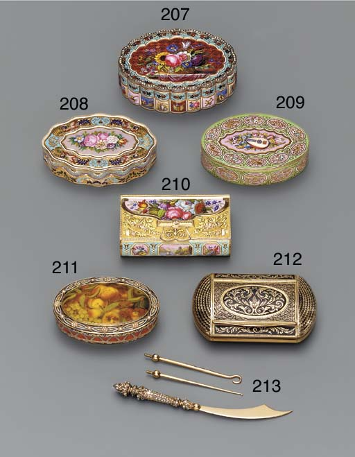 A FRENCH ENAMELLED FOUR-COLOUR
