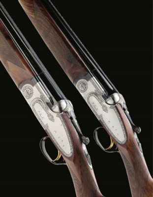 A PAIR OF 12-BORE (2¾IN) SINGL