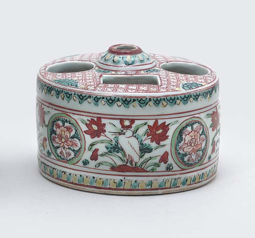 A LATE MING POLYCHROME ENAMELL