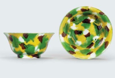 A PAIR OF FAMILLE VERTE BISCUI